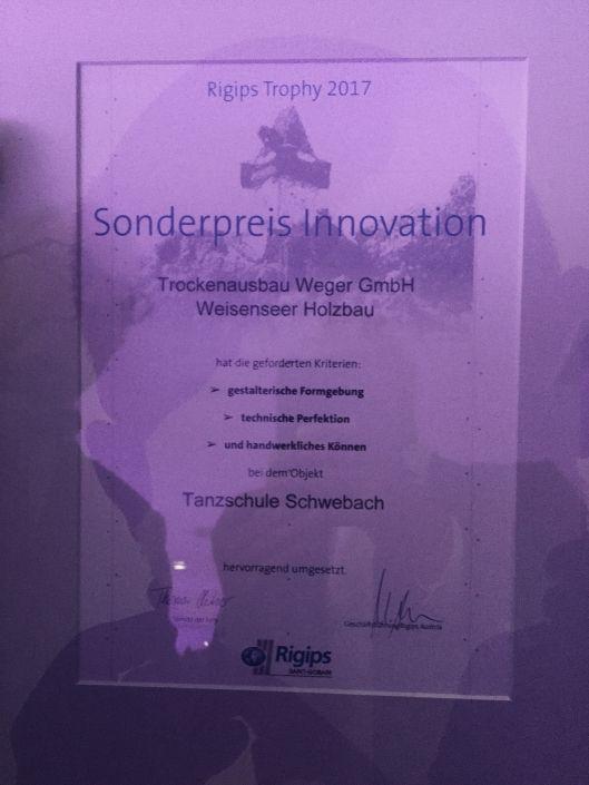 Staatspreis Schwebach Sonderpreis Innovation
